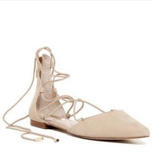 NEW Louise et Cie Nude Lace Up Flats